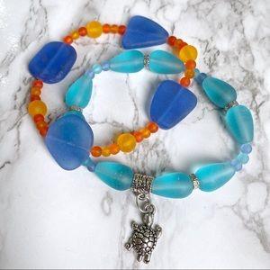 🎉5/20 SALE🎉 set of 2 sea glass beaded bracelets